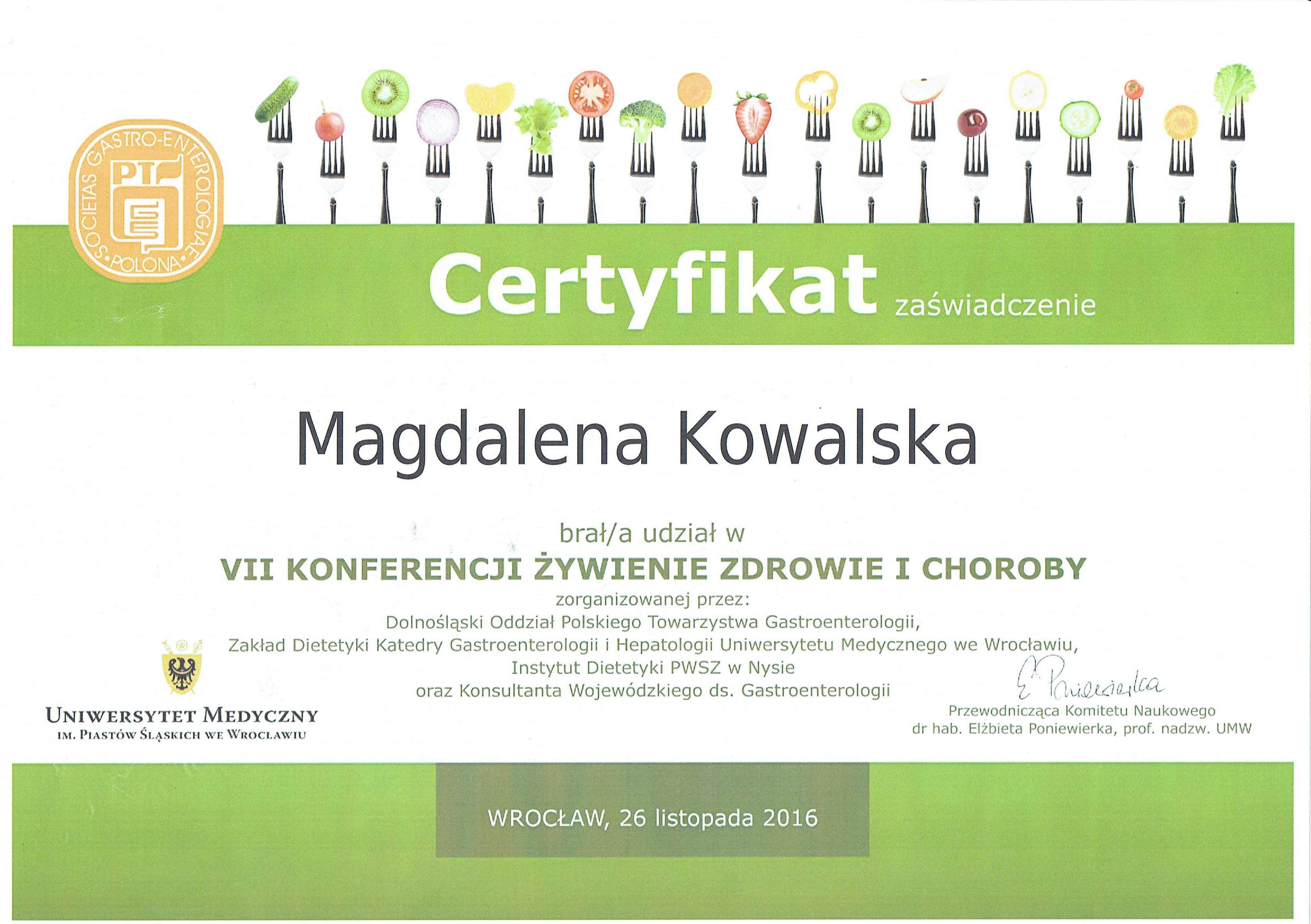 VII Konferencja Żywienie Zdrowie i Choroby